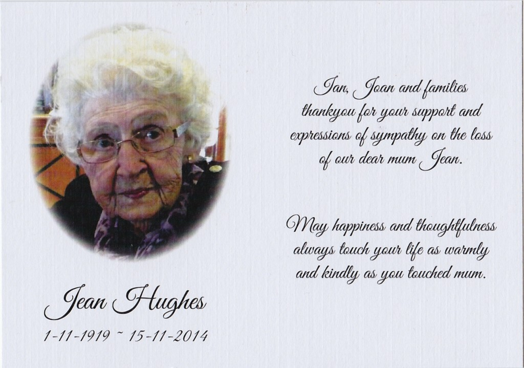 Jean's Thank you card