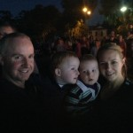 My family at the christmas lights