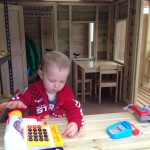 Lucas playing in Cubby